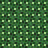 Groen grijs de textuur naadloos patroon met de wijzers van de klok mee van de baksteen spiraalvormig tegel Stock Illustratie