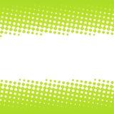 Groen halftone bannerontwerp