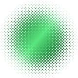 Groen halftone cirkelonduidelijk beeld Stock Foto's