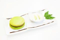 Groen hamburgerdessert Stock Afbeeldingen