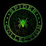 Groen het etiketontwerp van de spininzameling royalty-vrije illustratie