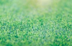 Groen het gebieds van het grasvoetbal mooi patroon als achtergrond van vers groen gras voor voetbalsport Royalty-vrije Stock Foto's