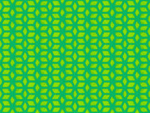 Groen het herhalen kubuspatroon Stock Afbeeldingen