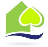 Groen het huispictogram van aardeco vector illustratie