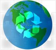 Groen het raadsel van de aarde recycling royalty-vrije illustratie