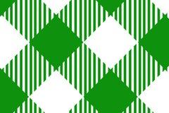 Groen horizontaal Gingangpatroon Textuur van ruit/vierkanten voor - plaid, tafelkleden, kleren, overhemden, kleding, document, he vector illustratie
