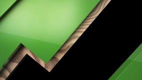 Groen houten klembord royalty-vrije illustratie