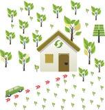 Groen huis Royalty-vrije Stock Fotografie