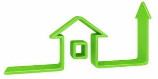 Groen huis vector illustratie