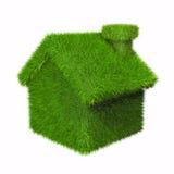 Groen huis Stock Afbeeldingen