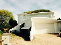 Groen huis royalty-vrije stock afbeelding