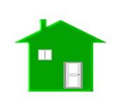 Groen huis Royalty-vrije Stock Foto's