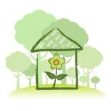 Groen Huis Eco Stock Foto