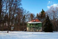 Groen huis Hummelshain Royalty-vrije Stock Foto