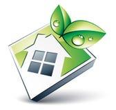 Groen huispictogram stock illustratie