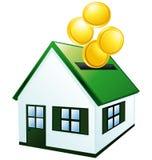 Groen huisspaarvarken. Stock Afbeeldingen