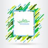 Groen kader op een witte achtergrond Effect van motie van geometrische elementen Futuristisch abstract beeld royalty-vrije illustratie