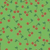Groen kersenpatroon Royalty-vrije Stock Fotografie