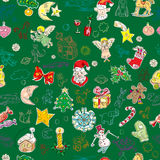 Groen Kerstmispatroon Stock Fotografie
