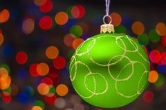 Groen Kerstmisstuk speelgoed Stock Fotografie