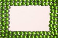 Groen kiezelstenenframe royalty-vrije stock afbeeldingen