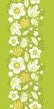 Groen kimono bloemen verticaal naadloos patroon Stock Foto