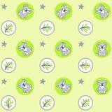 Groen koalapatroon Stock Afbeelding
