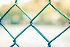 Groen kooimetaal netto in het park Royalty-vrije Stock Afbeeldingen