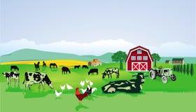 Groen landschap royalty-vrije illustratie