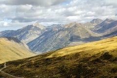 Groen landschap in Vall D Incles in Andorra stock fotografie