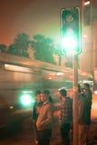 Groen licht stock foto