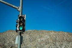 Groen Licht in de Woestijn royalty-vrije stock foto's