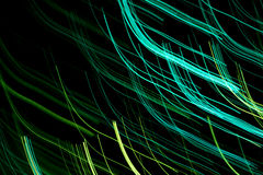 Groen lichtlijnen Stock Afbeelding