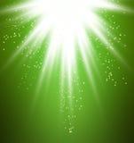Groen lichtuitbarsting Vector Illustratie