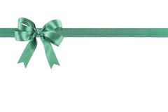 Groen lint met een boog Royalty-vrije Stock Afbeeldingen