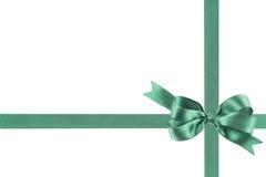 Groen lint met een boog Stock Foto