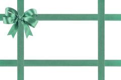 Groen lint met een boog Stock Afbeelding