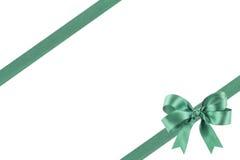 Groen lint met een boog Royalty-vrije Stock Afbeelding