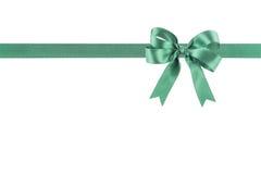Groen lint met een boog Royalty-vrije Stock Foto