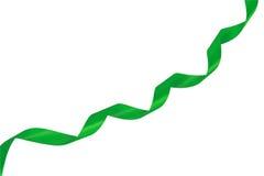 Groen lint over wit Royalty-vrije Stock Foto