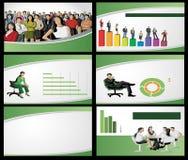 Groen malplaatje voor reclamefolder Royalty-vrije Stock Foto