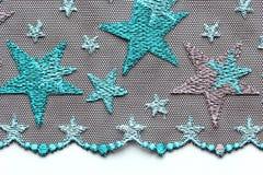 Groen materieel de textuur macroschot van het sterrenkant Stock Foto's