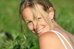 Groen meisje Royalty-vrije Stock Foto's