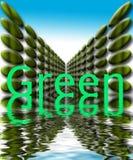 Groen met grafisch water   Royalty-vrije Stock Afbeeldingen