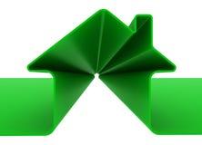 Groen metafoorhuis Royalty-vrije Stock Afbeeldingen