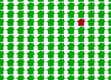 Groen metafoorhuis Stock Afbeelding