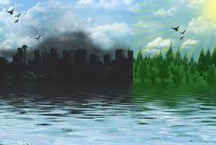Groen Milieu Royalty-vrije Stock Fotografie