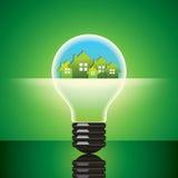 Groen milieuvriendelijk concept Stock Foto's