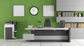 Groen modern bureau Stock Foto