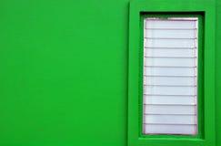 Groen muur en venster Royalty-vrije Stock Afbeelding